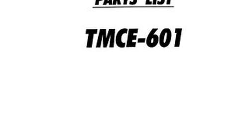TMCE601 PARTS 98.07