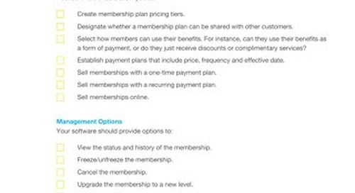 Buyer's Checklist: Membership Program Software