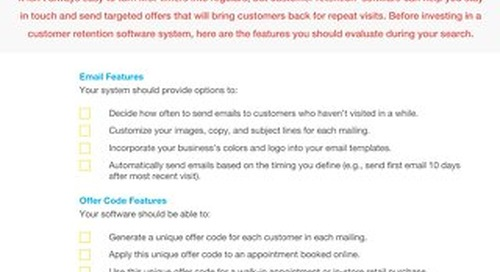 Buyer's Checklist: Customer Retention Software
