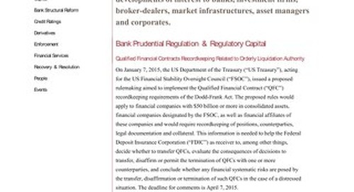 Financial Regulatory Developments Focus FIA 011315