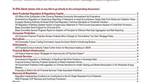 Financial Regulatory Developments Focus FIAFR 01282015