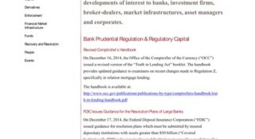 Financial Regulatory Developments Focus FIAFR 122314