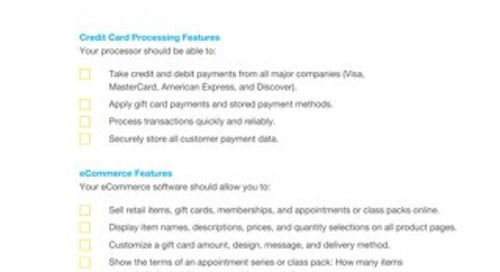 Buyer's Checklist: Credit Card Processing and eCommerce Software