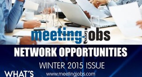 "MeetingJobs.Com ""Network Opportunities"" Magazine Winter 2015"
