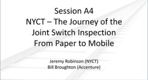 2015 Rail Summit Session A4 NYCT Journey of JSI from Paper to Mobile