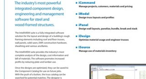 IntelliVIEW Structural Modeling and Component Design
