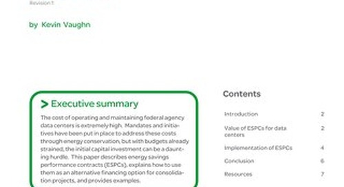 WP 176 - Energy Savings Performance Contracts for Federal Data Center Consolidation
