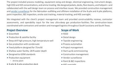 Davy Jones I & II Process & Satellite Facilities