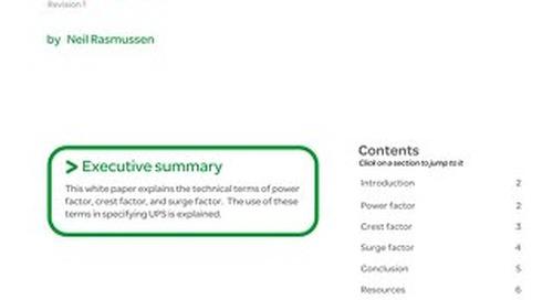 WP 17 - Understanding Power Factor, Crest Factor, and Surge Factor