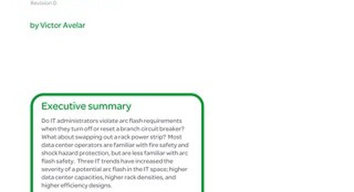 WP 194 - Arc Flash Considerations for Data Center IT Space
