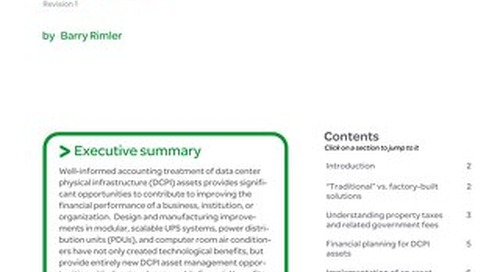 WP 115 - Accounting and Tax Benefits of Modular, Portable Data Center Infrastructure