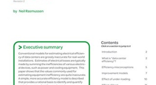 WP 113 - Electrical Efficiency Modeling for Data Centers