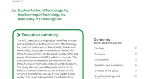 WP 111 - Reliability Analysis of the APC InfraStruXure® Power System