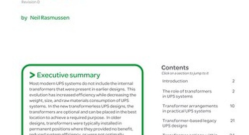 WP 98 - The Role of Isolation Transformers in Data Center UPS Systems