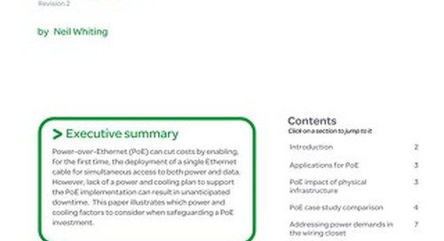 WP 88 - Power and Cooling Considerations for Power-over-Ethernet (PoE)