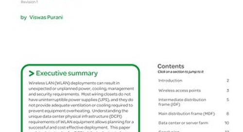 WP 84 - Data Center Physical Infrastructure for Enterprise Wireless LANs