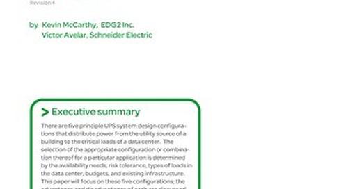WP 75 - Comparing UPS System Design Configurations