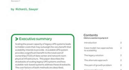 WP 73 - Reducing the Hidden Costs Associated with Upgrades of Data Center Power Capacity