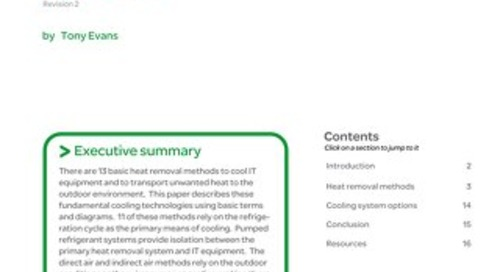 WP 59 - The Different Technologies for Cooling Data Centers