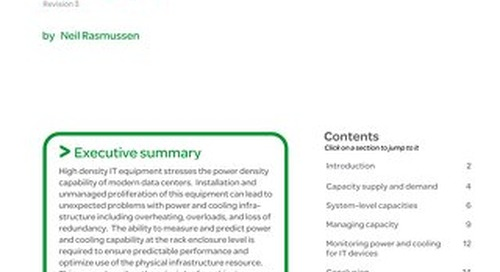 WP 150 - Power and Cooling Capacity Management for Data Centers