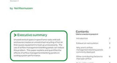 WP 44 - Improving Rack Cooling Performance Using Airflow Management Blanking Panels