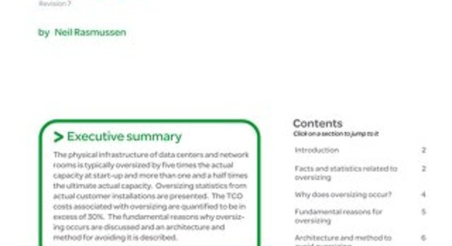 WP 37 - Avoiding Costs from Oversizing Data Center and Network Room Infrastructure