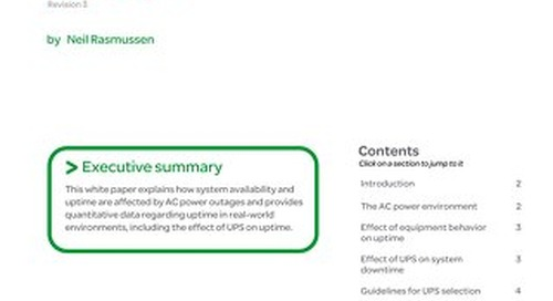 WP 24 - Effect of UPS on System Availability