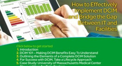 How to bridge the gap between IT and Facilities with DCIM