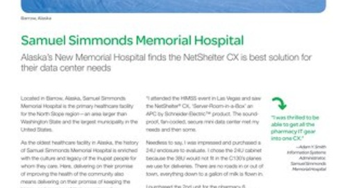 Netshelter CX at Samuel Simmonds Memorial Hospital