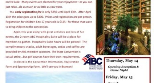 2015 ABC Convention Registration Packet