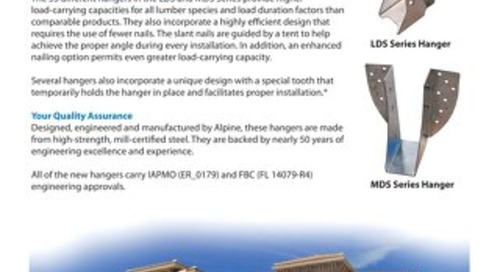 LDS MDS Face-Mount Hanger Series