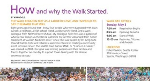 WalkTalk - Spring 2015 - Seattle Brain Cancer Walk