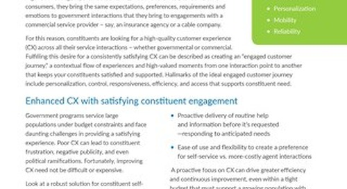 Creating an Engaging Constituent Experience