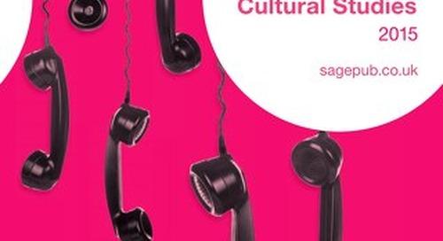 Media, Communication & Cultural Studies Catalogue 2015