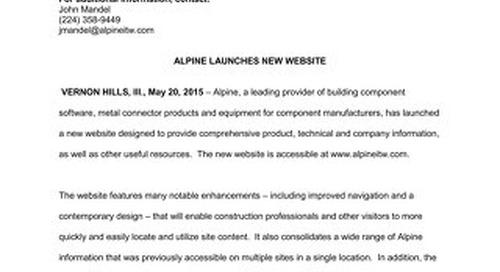 New Website Press Release 5-20-15