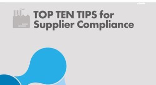 Top Ten Tips for Supplier Compliance