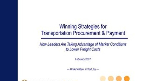 Winning Strategies for Transportation Procurement & Payment