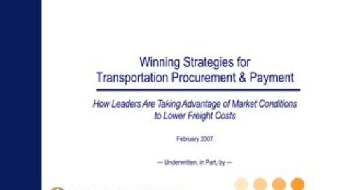 Winning Strategies for Transportation Procurement & Payment