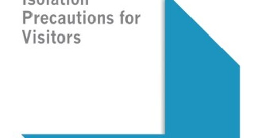 Isolation Precautions for Visitors (SHEA)