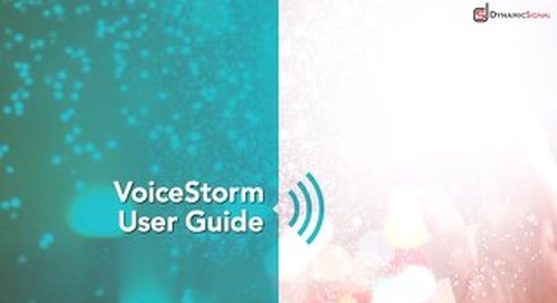 VoiceStorm User Guide