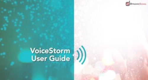 VoiceStorm User Guide