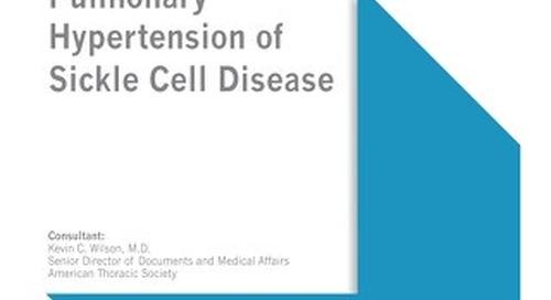Pulmonary Hypertension of Sickle Cell Disease
