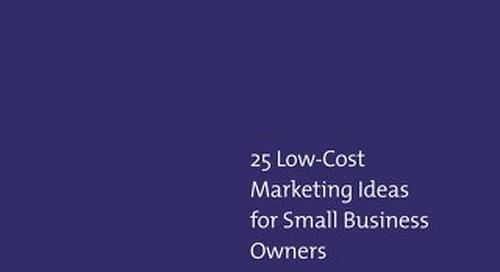 25 Low cost Marketing ideas eBook