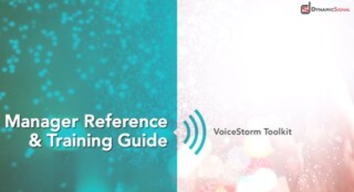 Dynamic Signal - Manager Reference Guide