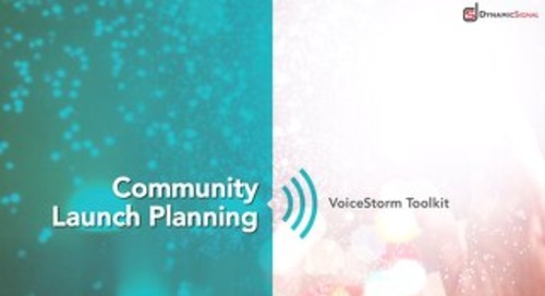 Dynamic Signal - Community Launch Planning