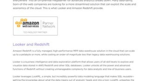 Analytics on Amazon Redshift: Technical Overview