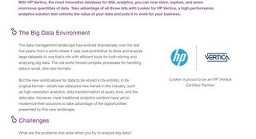 Analytics on HP Vertica
