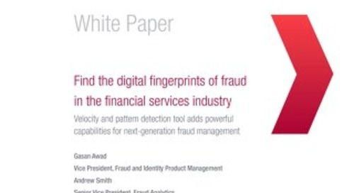 Find the digital fingerprints of fraud in the financial services industry