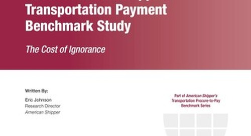 Freight Payment Benchmark Study 2015