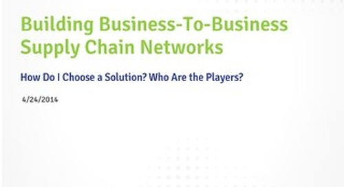 Building B2B Supply Chain Networks